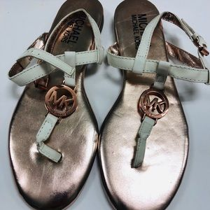 💗 Michael kors rose gold sandals💗